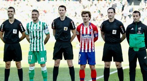 אנטואן גריזמן וחואקין לפני המשחק (La Liga)