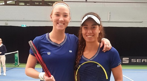 לינה גלושקו ומאיה טחן (איגוד הטניס)
