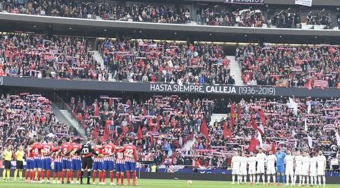שחקני ריאל ואתלטיקו מדריד לפני המשחק (La Liga)