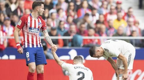סאול עוזר לדני קרבחאל לקום (La Liga)
