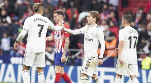 לוקה מודריץ' עם מריאנו בסיום (La Liga)