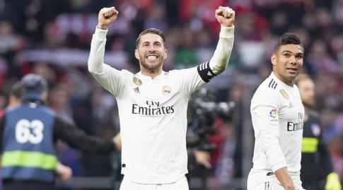 סרחיו ראמוס מאושר בסיום (La Liga)