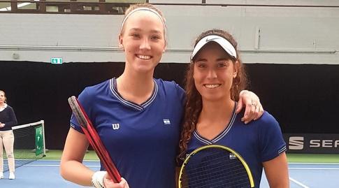 מאיה טחן ולינה גלושקו (באדיבות איגוד הטניס) (מערכת ONE)