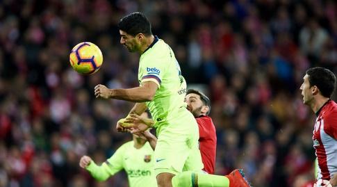 לואיס סוארס נוגח החוצה (La Liga)