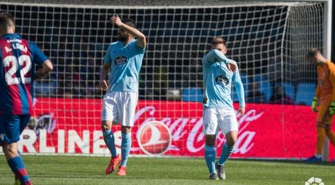 שחקני סלטה ויגו מאוכזבים (La Liga)