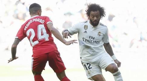 מרסלו מנסה לעבור את פדרו פורו (La Liga)