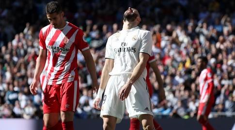 קארים בנזמה מאוכזב לאחר ההחמצה (La Liga)