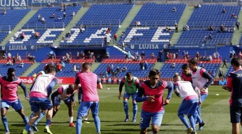 שחקני חטאפה לפני המשחק (La Liga)