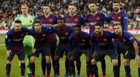 שחקני ברצלונה בתמונה הקבוצתית (La Liga)
