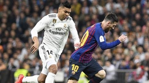 קאסמירו בעקבות ליאו מסי (La Liga)