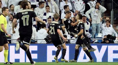 שחקני אייאקס חוגגים (La Liga)