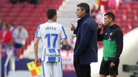 מאוריסיו פלגרינו עם חאבייר אראסו (La Liga)