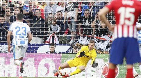 אנדריי לונין עוצר את הפנדל (La Liga)