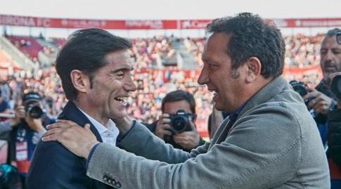 מרסלינו וסקריסטן לפני השריקה (La Liga)