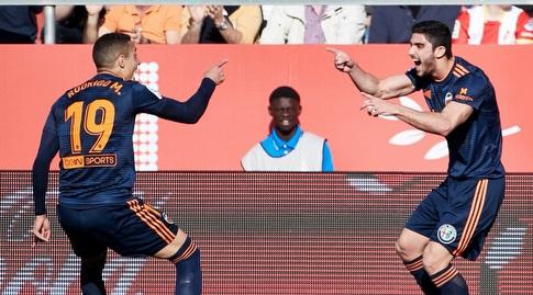 גונסאלו גדש חוגג עם רודריגו (La Liga)