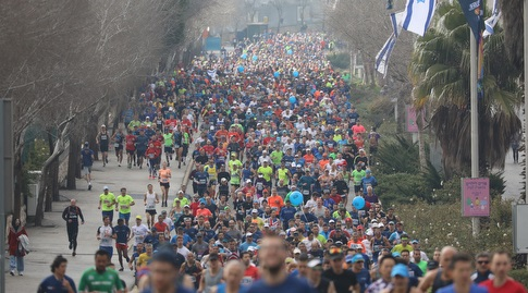 הזנקת מרתון ירושלים (פלאש 90)