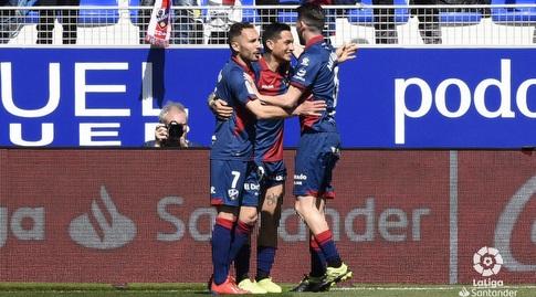שחקני ווסקה חוגגים (La Liga)