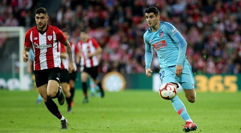 אלברו מוראטה עם הכדור (La Liga)