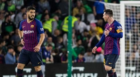 ליאו מסי עם לואיס סוארס (La Liga)