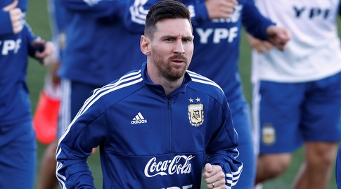 ליאו מסי באימון ארגנטינה (רויטרס)