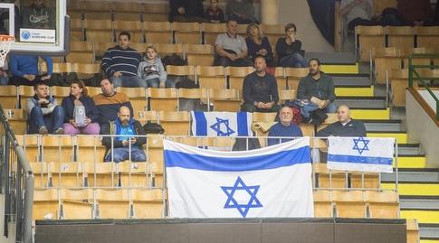 אוהדי חולון שהגיעו להונגריה (FIBA)