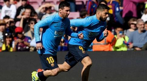 לואיס סוארס עם ליאו מסי (La Liga)