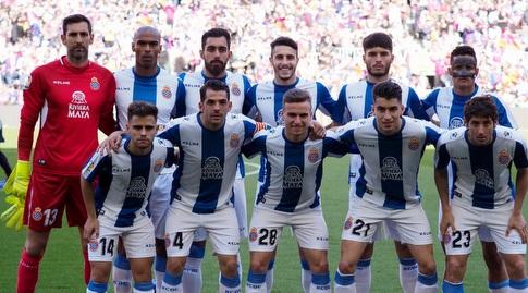 שחקני אספניול לפני המשחק (La Liga)