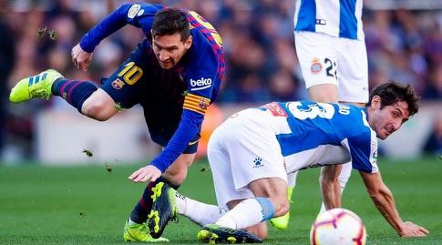 אסטבן גראנרו מכשיל את ליאו מסי (La Liga)