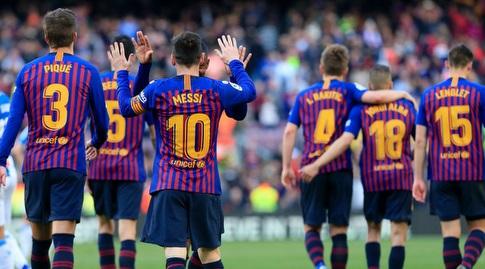 מלקום חוגג עם ליאו מסי (La Liga)