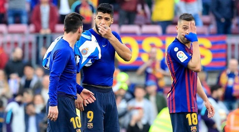 ג'ורדי אלבה, לואיס סוארס וליאו מסי בסיום (La Liga)