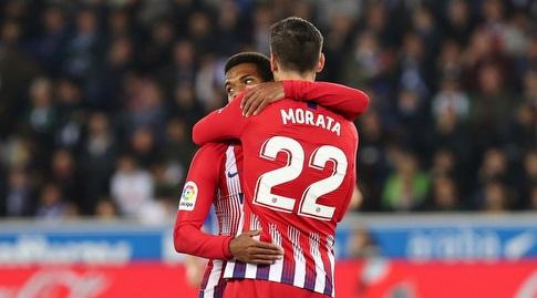 תומא למאר מברך את אלברו מוראטה (La Liga)