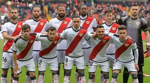 שחקני ראיו וייקאנו לפני המשחק (La Liga)