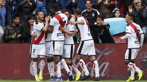 שחקני ראיו וייקאנו חוגגים (La Liga)