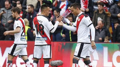 ראול דה תומאס חוגג עם אלברו גארסיה (La Liga)