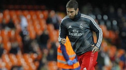 סרחיו ראמוס בחימום (La Liga)