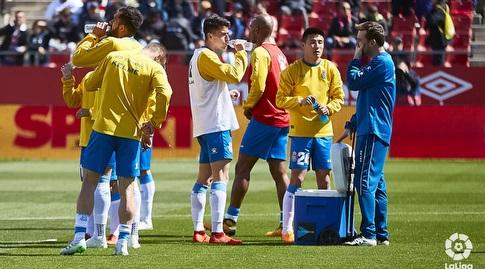 שחקני אספניול מתחממים (La Liga)