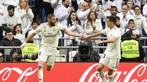 קארים בנזמה חוגג עם סרחיו רגילון (La Liga)