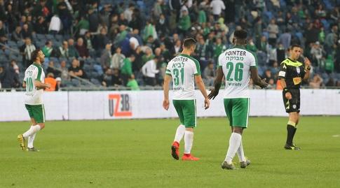 שחקני מכבי חיפה מאוכזבים (עמית מצפה)