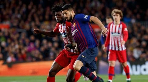 לואיס סוארס ותומאס פארטה במאבק (La Liga)