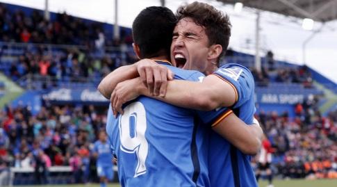 אנחל וחיימה מאטה חוגגים (La Liga)
