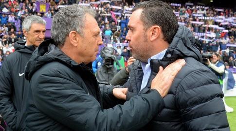 סרחיו עם חואקין קפארוס (La Liga)