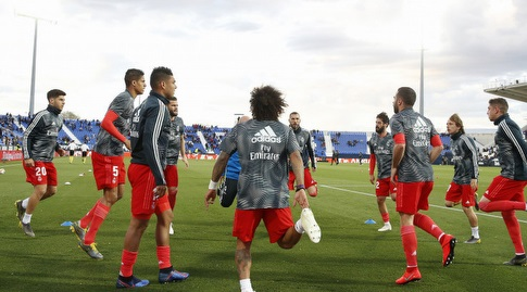 שחקני ריאל מדריד בחימום (La Liga)