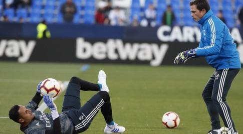 קיילור נבאס בחימום (La Liga)