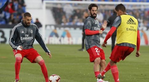 רפאל וראן, איסקו וקארים בנזמה בחימום (La Liga)