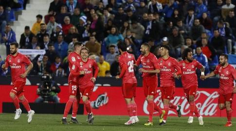 שחקני ריאל מדריד חוגגים (La Liga)
