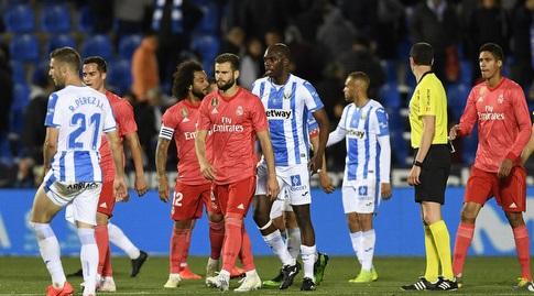 שחקני ריאל מדריד ולגאנס בסיום (La Liga)