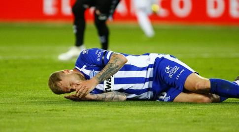 יון גידטי ברגע הפציעה (La Liga)