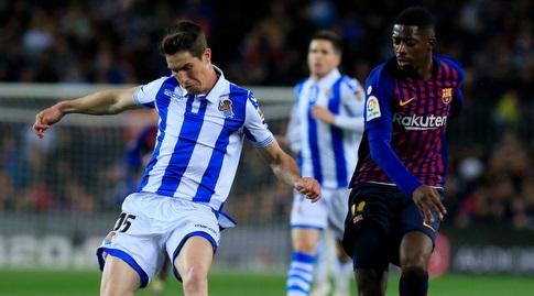 אוסמן דמבלה עם אריץ אלוסטונדו (La Liga)
