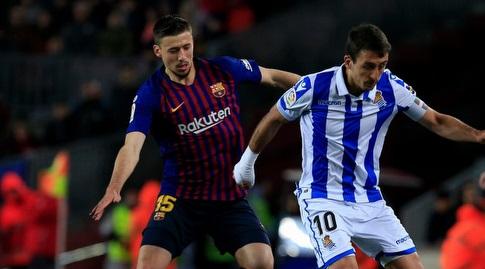 מיקל אויארסבאל עם קלמנט לנגלה (La Liga)