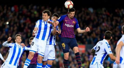 קלמנט לנגלה נוגח פנימה (La Liga)